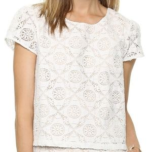 Joie caisley eyelet lace short sleeve top